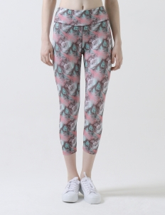 Charming Peafowl Hoopla Active Crop Pants