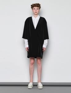 Black Kimono Sleeve Blazer