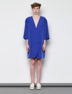 Blue Kimono Sleeve Blazer