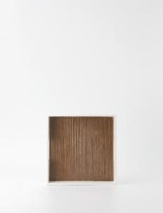 White Brown Square Multi-purpose Tray Set