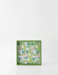 Green Square Multi-purpose Tray set (with Art)