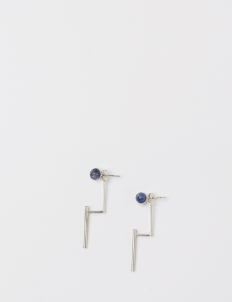 Silver Half Band Earring