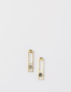 Gold Framed Earring