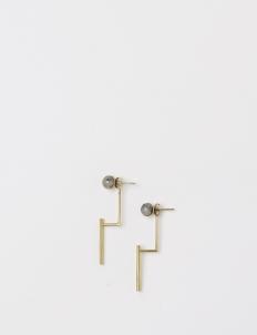 Gold Half Band Earring