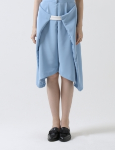 Blue Wrap Culottes