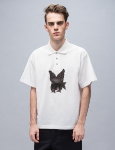 S/S Polo With Bird Embroidery