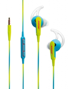 Blue and Yellow Bose SoundSport In-Ear Headphones for Apple Devices