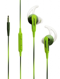 Green Bose SoundSport In-Ear Headphones for Apple Devices