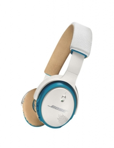 White and Blue Bose Soundlink On Ear