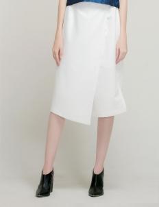 White Slit Culottes