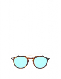 Light Havana Blue Isobu Sunglasses