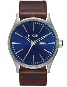 Sentry Leather with Blue Dial