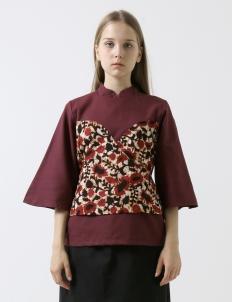 Red Kimono Dolly Blouse