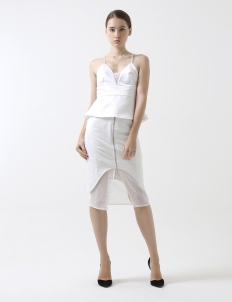 White Camisole Pencil Dress