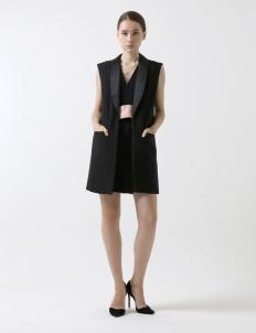 Black Sleeveless Blazer Dress