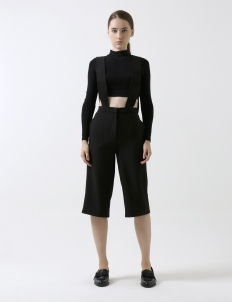 Black Badgley Overall Culotte