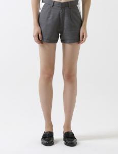 Gray Cotton Shorts