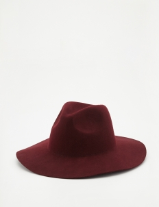Red Soft Felt Hat