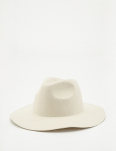 White Soft Felt Hat