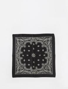 Black Silk Bandana Scarf