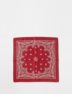 Red Silk Bandana Scarf