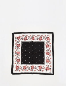 White  Rose Silk Bandana Scarf
