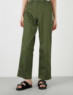 Khaki Military Straight Pants