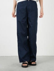 Navy Military Straight Pants