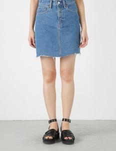 Blue Denim Fit Mini Skirt