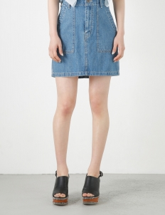 Blue Denim Workers Skirt