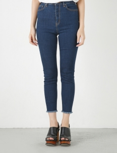 Dark Blue Isko Emotion Fringe Skinny Pants