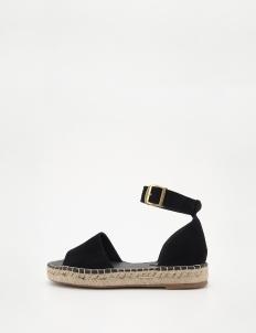 Black Jute Strap Sandals