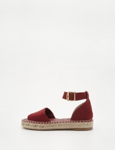 Red Jute Strap Sandals