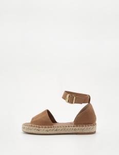Beige Jute Strap Sandals