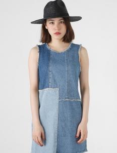 Blue Patch Denim Dress