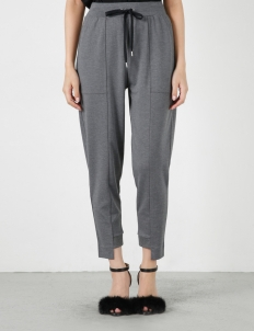Gray Jersey Jog Pants