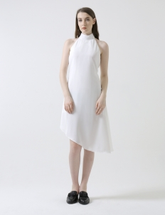 White Miest Back Dress