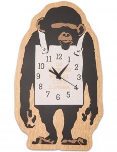 "Sync.-Brandalism x Karimoku ""Monkey Sign"" Wall Clock"