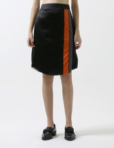 Black Emeline Midi Skirt