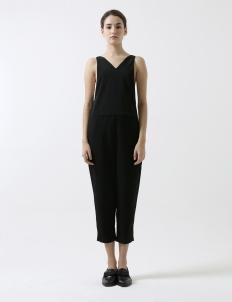 Black Low Side Jumpsuit