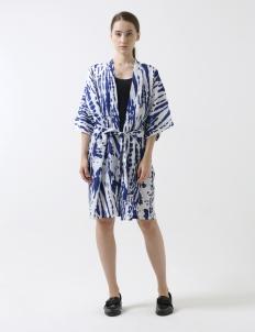 Blue Unisex Kimono Cardigan