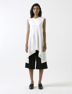 White Fishtail Long Shirt