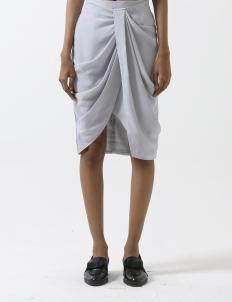 Lilac Gray Tulip Skirt