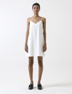 White Basic Strap Dress