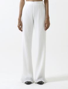 White Trisha Pleated Pants