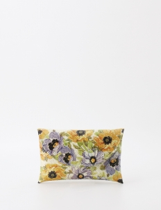 Classic Blue and Yellow Flowers Ayoeni Clutch