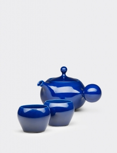 Cobalt Blue Bulb Tea set (3 pcs)