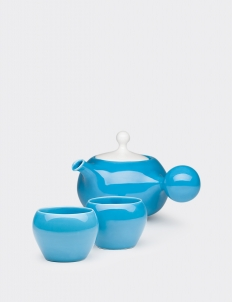 Teal Blue Bulb Tea set (3 pcs)