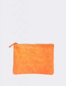 Tangerine Medium Flat Pouch