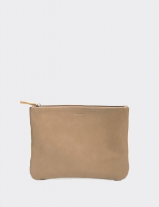 Taupe Medium Flat Pouch